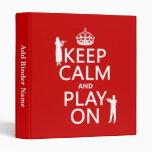 Guarde la calma y el juego en (flauta) (cualquier