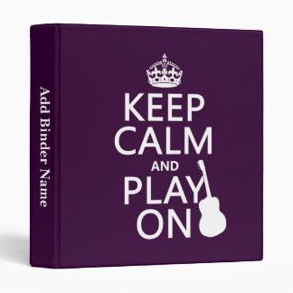 """Guarde la calma y el juego en (guitarra) (todos lo carpeta 1"""""""
