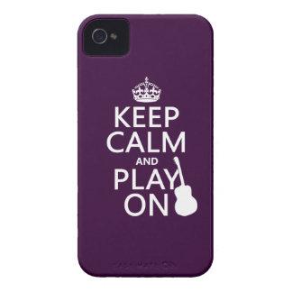 Guarde la calma y el juego en (guitarra) (todos lo Case-Mate iPhone 4 fundas