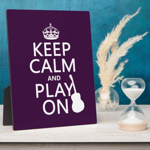 Guarde la calma y el juego en (guitarra) (todos lo placas para mostrar