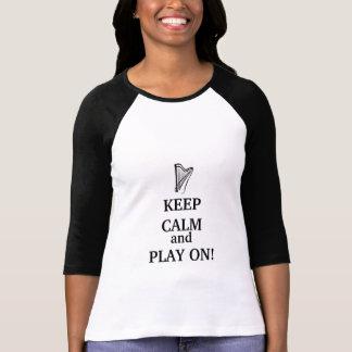 GUARDE la CALMA y el JUEGO EN la camiseta
