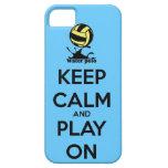 """""""Guarde la calma y el juego en"""" la cubierta del iP iPhone 5 Case-Mate Carcasas"""