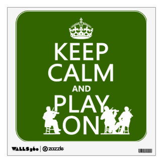 Guarde la calma y el juego en (los instrumentos at