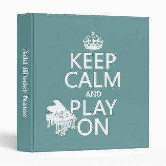"""Guarde la calma y el juego en (piano) (cualquier c carpeta 1"""""""