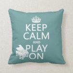 Guarde la calma y el juego en (piano) (cualquier c almohadas
