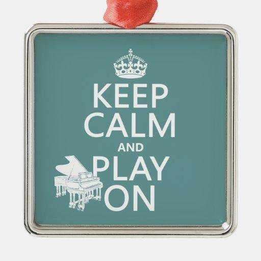 Guarde la calma y el juego en (piano) (cualquier ornatos
