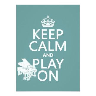 Guarde la calma y el juego en (piano) (cualquier comunicado personalizado