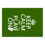 Guarde la calma y el juego en (saxofón) (cualquier plantillas de tarjetas de visita