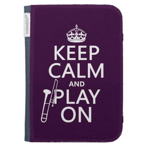 Guarde la calma y el juego en (Trombone) (cualquie