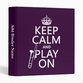 """Guarde la calma y el juego en (Trombone) (cualquie Carpeta 1"""""""