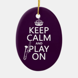 Guarde la calma y el juego en Trombone cualquie Ornamento De Reyes Magos