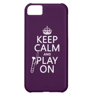 Guarde la calma y el juego en (Trombone) Funda Para iPhone 5C