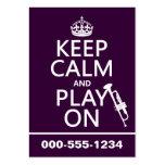 Guarde la calma y el juego en (trompeta) (todos lo tarjetas de visita