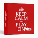 Guarde la calma y el juego en (tuba) (cualquier co