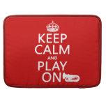 Guarde la calma y el juego en (tuba) (cualquier co fundas para macbook pro
