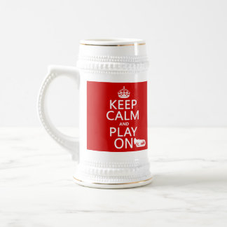 Guarde la calma y el juego en (tuba) (cualquier co taza de café