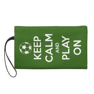 Guarde la calma y el juego en verde