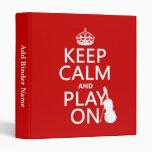 Guarde la calma y el juego en (violín) (cualquier