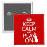 Guarde la calma y el juego en (violín) (cualquier  pins