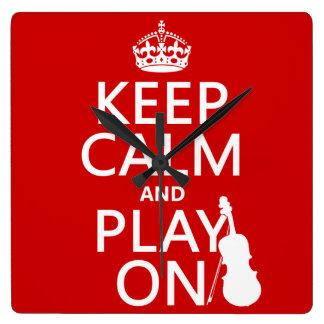 Guarde la calma y el juego en (violín) (cualquier  relojes