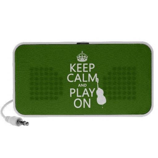 Guarde la calma y el juego en (violoncelo) (cualqu laptop altavoces
