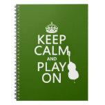 Guarde la calma y el juego en (violoncelo) (cualqu libretas