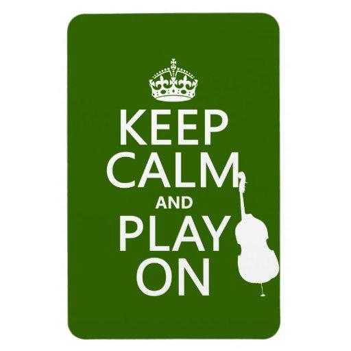 Guarde la calma y el juego en (violoncelo) (cualqu iman de vinilo