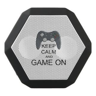 Guarde la calma y el juego ENCENDIDO Altavoces Bluetooth Negros Boombot REX