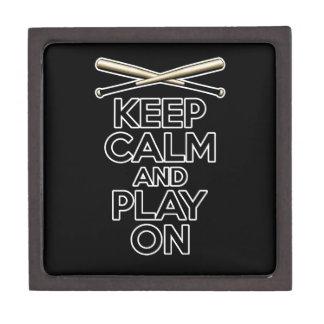 Guarde la calma y el juego encendido cajas de joyas de calidad