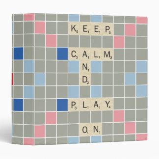 """Guarde la calma y el juego encendido carpeta 1 1/2"""""""