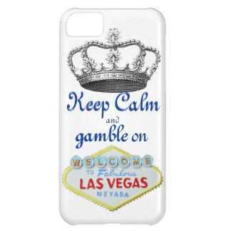 Guarde la calma y el juego encendido funda para iPhone 5C