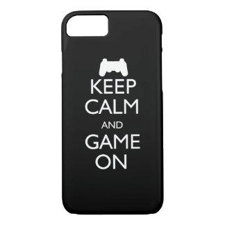 Guarde la calma y el juego encendido funda iPhone 7