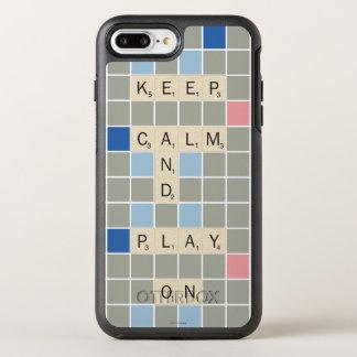 Guarde la calma y el juego encendido funda OtterBox symmetry para iPhone 7 plus