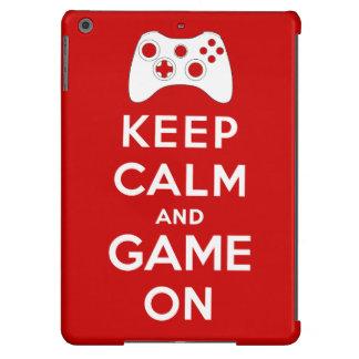 Guarde la calma y el juego encendido funda para iPad air