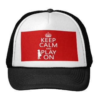 Guarde la calma y el juego encendido gorro
