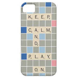 Guarde la calma y el juego encendido iPhone 5 carcasa