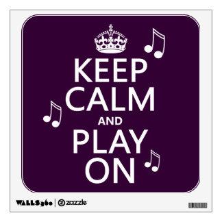 Guarde la calma y el juego encendido - las notas d