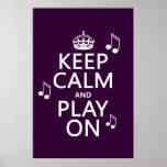Guarde la calma y el juego encendido - las notas d impresiones
