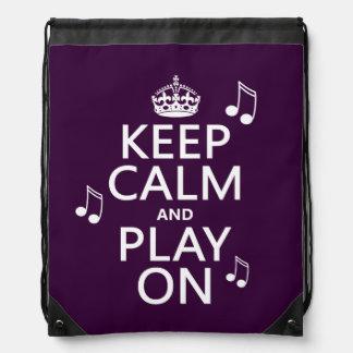 Guarde la calma y el juego encendido - las notas mochilas