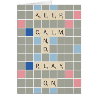 Guarde la calma y el juego encendido tarjetas