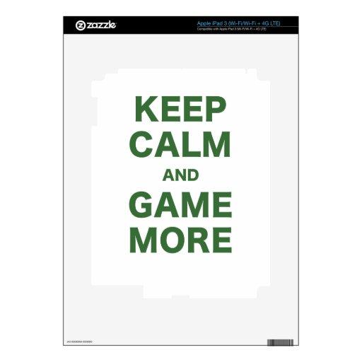 Guarde la calma y el juego más pegatinas skins para iPad 3