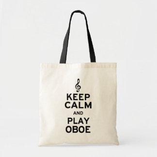 Guarde la calma y el juego Oboe