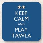 Guarde la calma y el juego Tawla Posavasos De Bebidas
