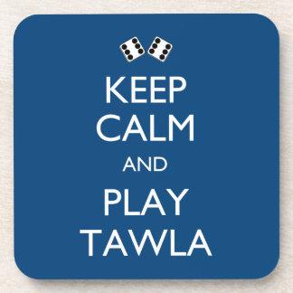 Guarde la calma y el juego Tawla Posavasos