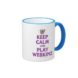 Guarde la calma y el juego Webkinz Taza A Dos Colores
