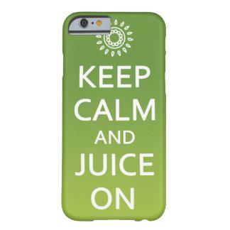 ¡Guarde la calma y el jugo encendido! Llame por Funda De iPhone 6 Barely There
