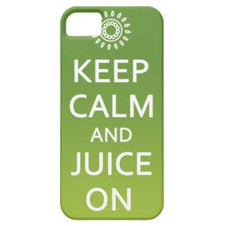 ¡Guarde la calma y el jugo encendido! Llame por Funda Para iPhone 5 Barely There