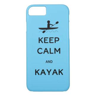 Guarde la calma y el kajak funda iPhone 7