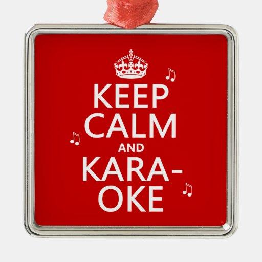 Guarde la calma y el Karaoke (el color del Adornos