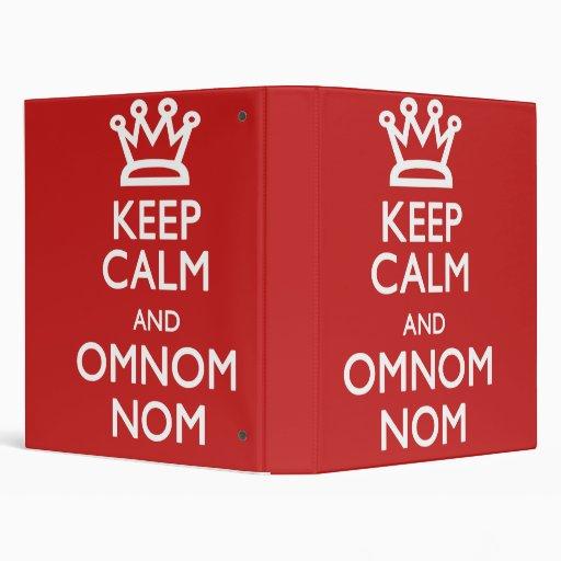 Guarde la calma y el libro del cocinero de Omnom